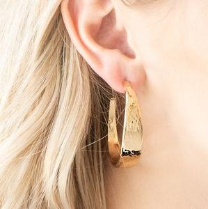 """""""Hoop And Holler"""" - Gold Hoop Earrings"""